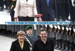 Fotos da primeira visita oficial a Berlim do PM português, em setembro de 2011 e a do PM grego esta semana. Descubra as diferenças!