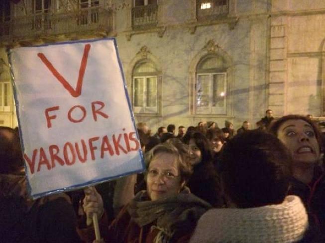 Concentração de solidariedade com o povo grego - Lisboa