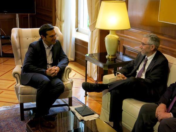 Alexis Tsipras e Paul Krugman