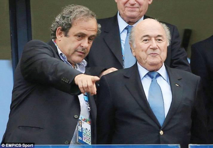 Platini e Blatter, líderes da UEFA e FIFA.