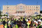 Manifestação de mineiros contra a retirada da licença à Eldorado Gold