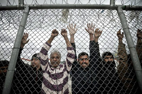 Centro de detenção de Amygdaleza, em Atenas. Foto Reuters.