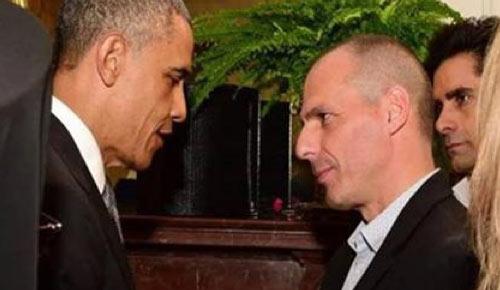 Obama e Varoufakis na Casa Branca