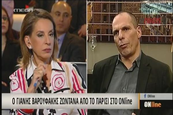 Varoufakis na Mega TV