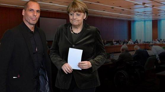 Varoufakis e Angela Merkel
