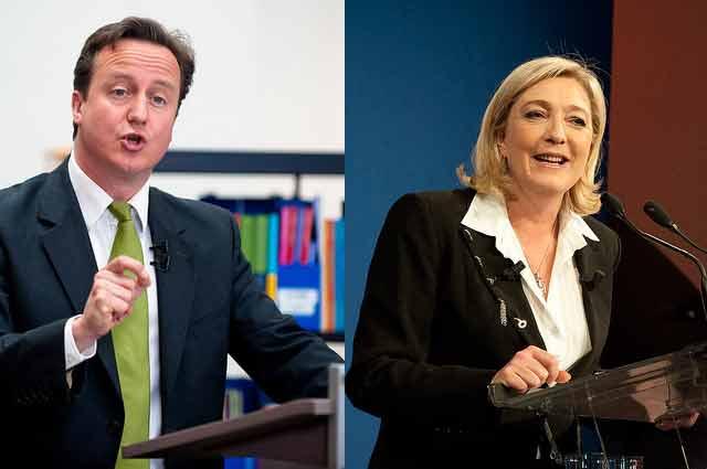 David Cameron e Marine Le Pen