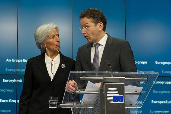 Christine Lagarde e Jeroen Dijsselbloem