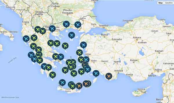 Aeroportos gregos