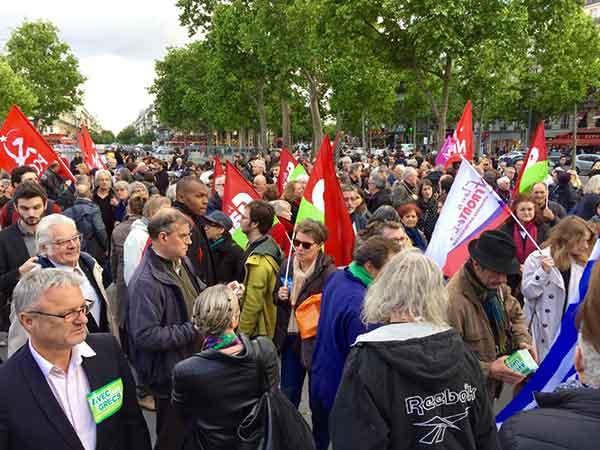 """Foto da página Facebook """"Soutien au peuple grec et à son gouvernement"""""""
