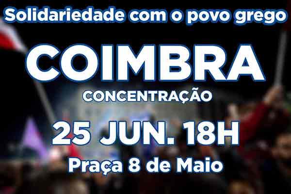 Concentração em Coimbra