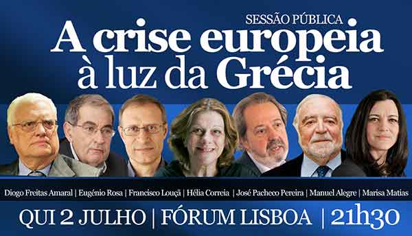 """Sessão pública """"A crise europeia à luz da Grécia"""""""