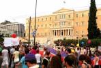 Manifestação LGBT em frente ao parlamento em 2009. Foto MaryLou/Flickr