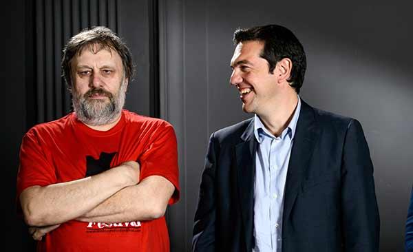 Zizek e Tsipras. Foto matthew_tsimitak/Flickr