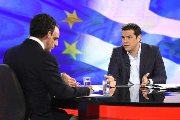 Alexis Tsipras em entrevista à ERT