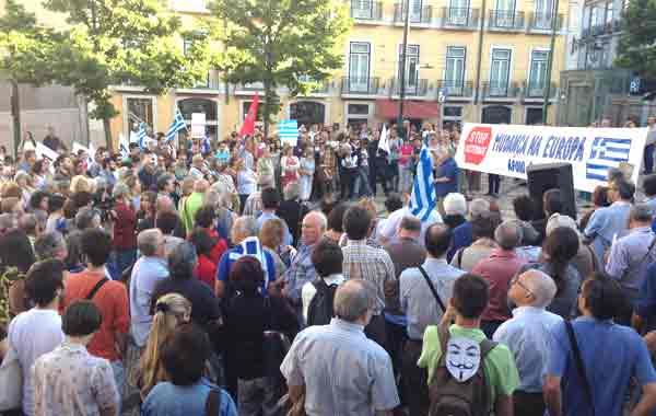 Concentração em Lisboa - 22 junho 2015. Foto esquerda.net