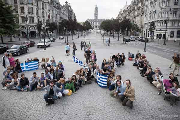 Flash mob no Porto - 30 junho 2015. Foto Adriana Melo