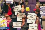 Protesto do Die Linke no Bundestag