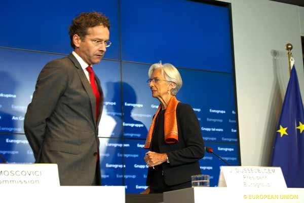 Dijsselbloem e Lagarde. Foto União Europeia ©