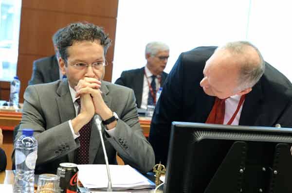 Jeroen Dijsselbloem no Eurogrupo de 27 de junho. Foto União Europeia ©