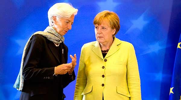 Christine Lagarde e Angela Merkel. Foto União Europeia ©