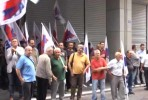 Protesto da central sindical PAME