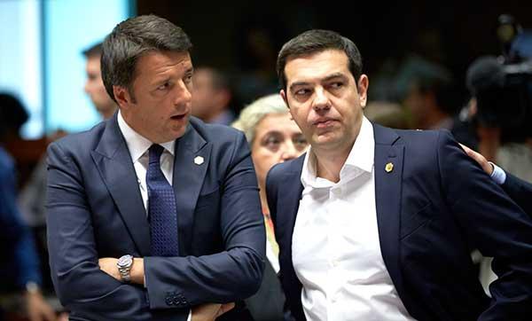 Matteo Renzi e Alexis Tsipras. Foto União Europeia ©