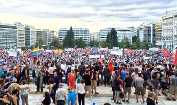 Manifestação Praça Syntagma, 21 junho 2015