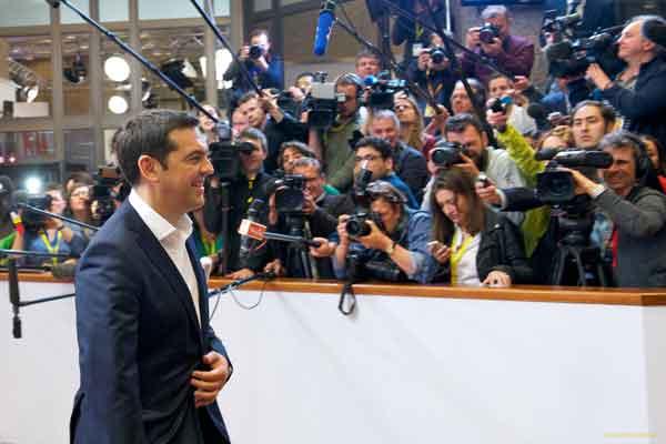 Alexis Tsipras na cimeira da zona euro, 22 de junho 2015. Foto União Europeia ©