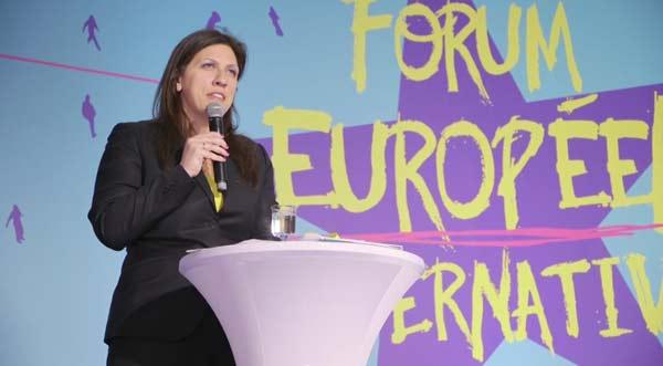 Zoe Konstantopoulou no Fórum Europeu das Alternativas, em Paris