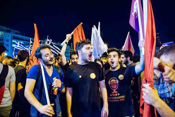 Juventude do Syriza. Foto Left.gr