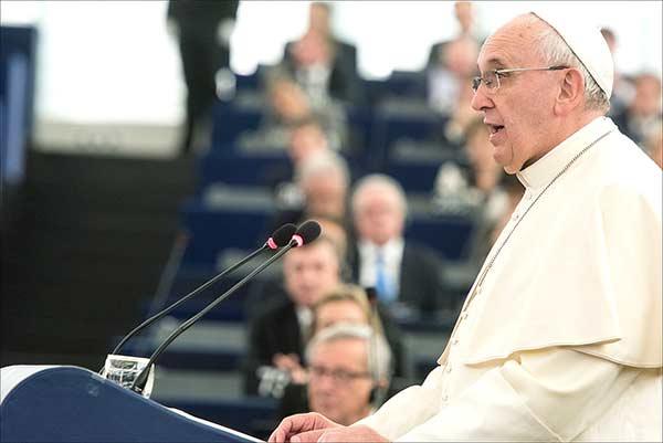 Papa Francisco. Foto Parlamento Europeu