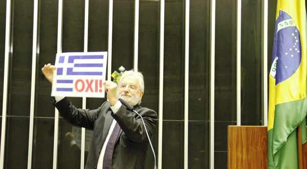 OXI no Congresso dos Deputados do Brasil, por Ivan Valente (PSOL)