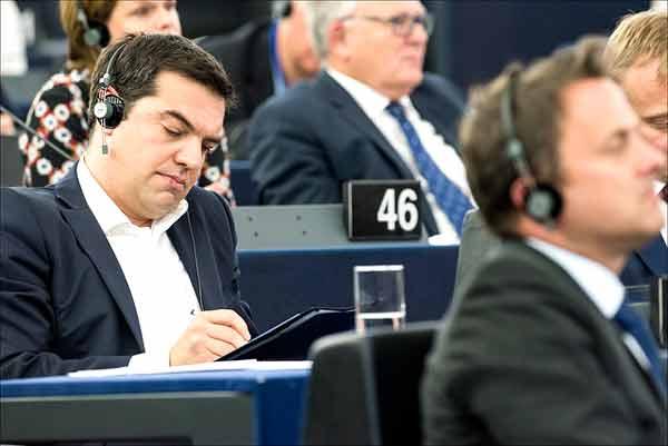 Alexis Tsipras no Parlamento Europeu. Foto Parlamento Europeu.