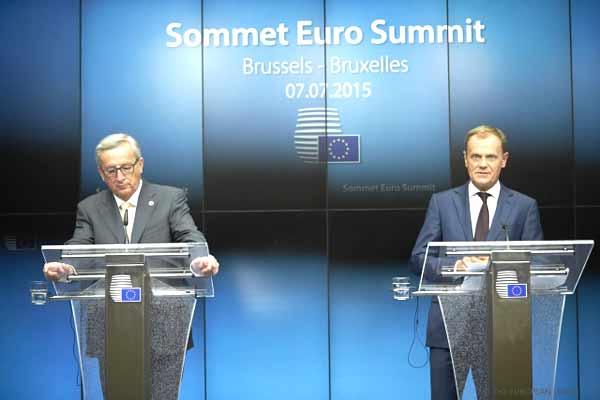 Juncker e Tusk. Foto União Europeia ©