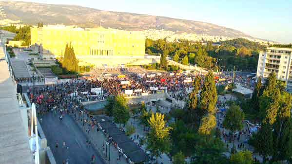 Manifestação em Atenas - 15 julho 2015
