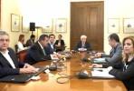 Líderes artidários reunidos com o Prsidente da República