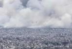 Incêndio ameaça Atenas. Foto Press Project