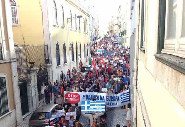 Manifestação em Lisboa - 4 julho 2015