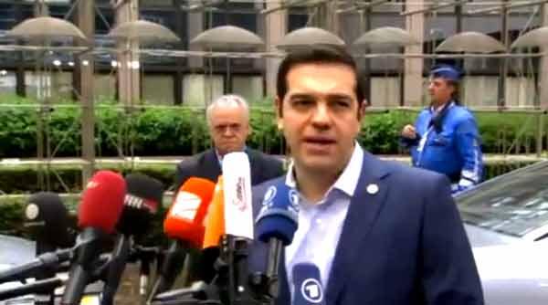 Alexis Tsipras à chegada à cimeira da zona euro de 12 de julho 2015