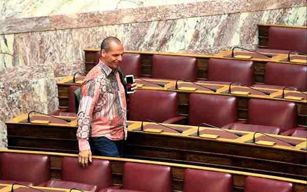 Yanis Varoufakis no parlamento