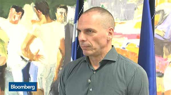 Varoufakis em entrevista à Bloomberg
