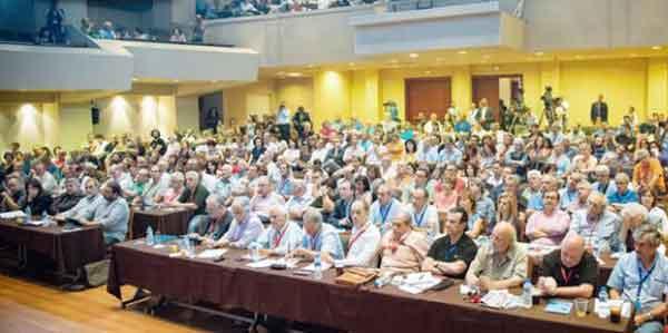 Reunião do Comité Central do Syriza. Foto Left.gr