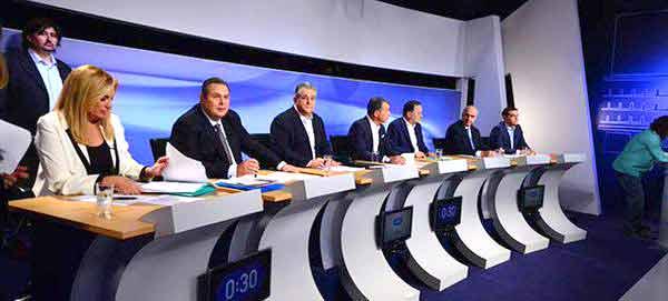Debate entre candidatos na ERT