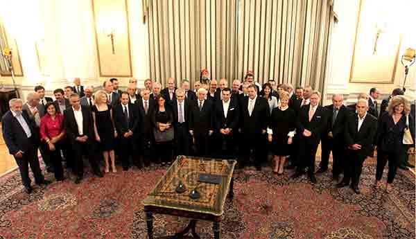Tomada de posse do governo grego, setembro 2015. Foto Agência AMNE