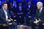 Tsipras e Clinton numa conferência em Nova Iorque