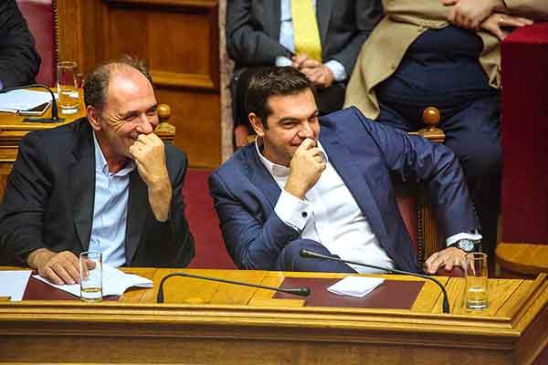 Giorgios Stathakis e Alexis Tsipras. Foto Left.gr