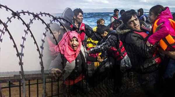 Refugiados. Imagem Left.gr