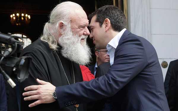Jerónimo e Tsipras. Foto Greek Reporter.
