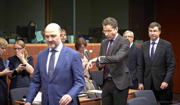 Moscovici e Dijsselbloem. Foto União Europeia ©