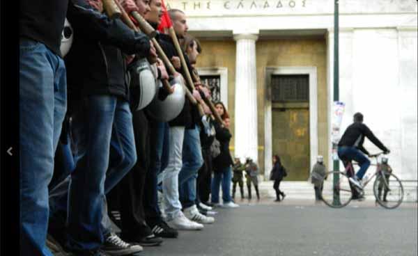 Greve geral em Atenas. Foto Katja Lihtenvalner/Twiter